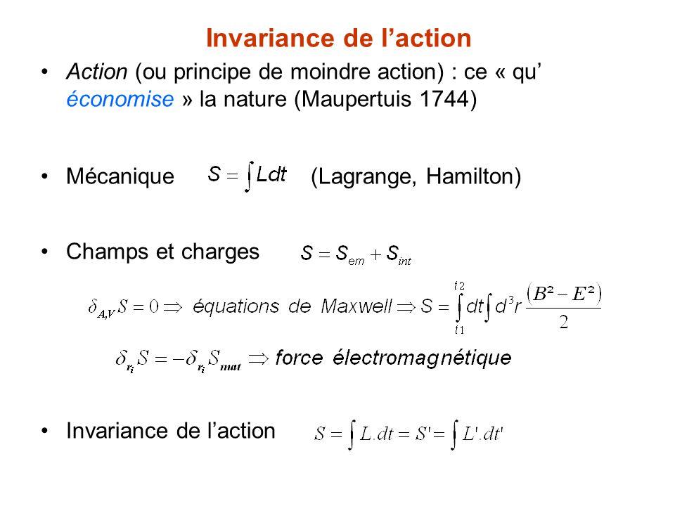 Invariance de l'action