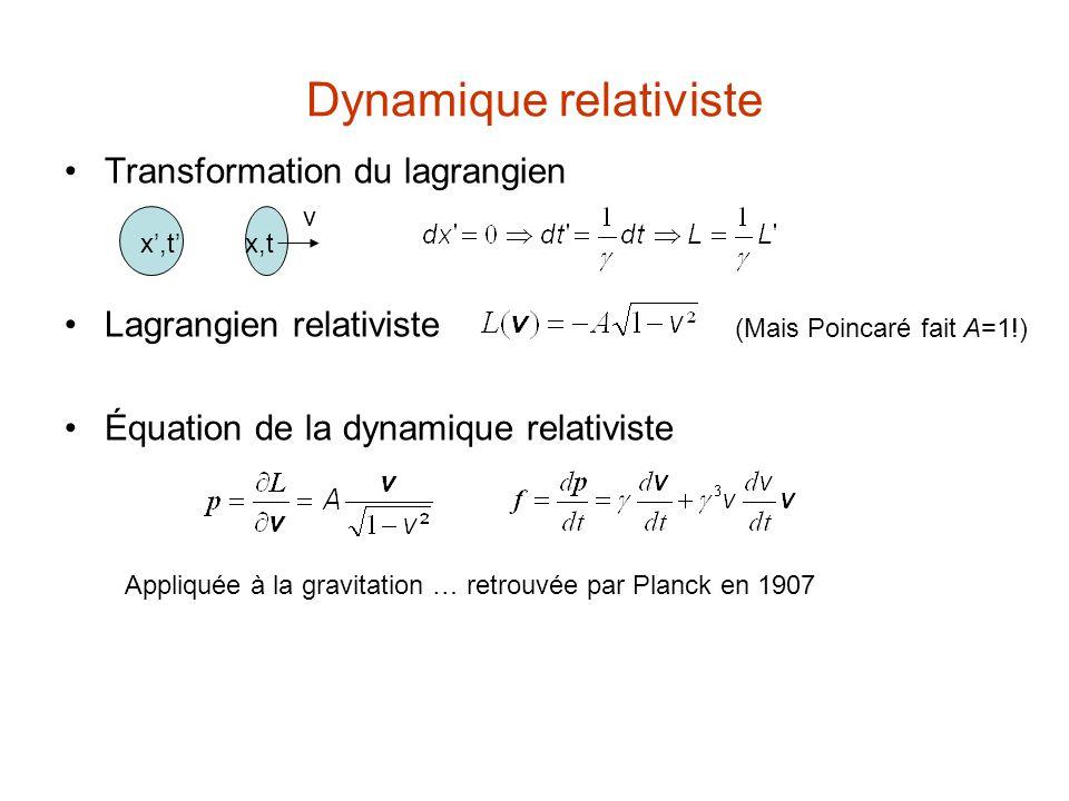 Dynamique relativiste