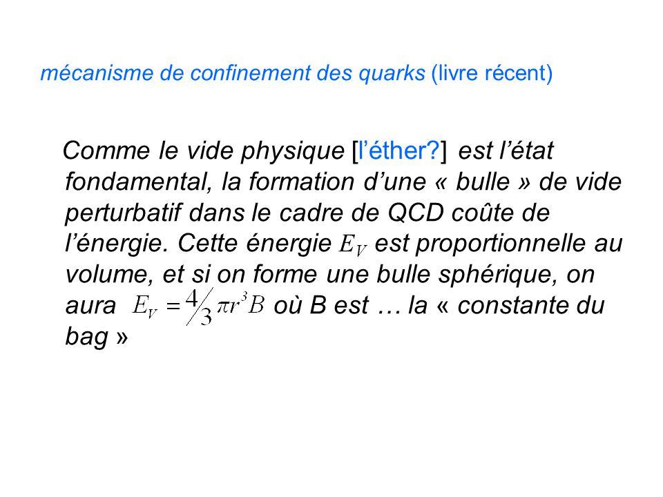 mécanisme de confinement des quarks (livre récent)