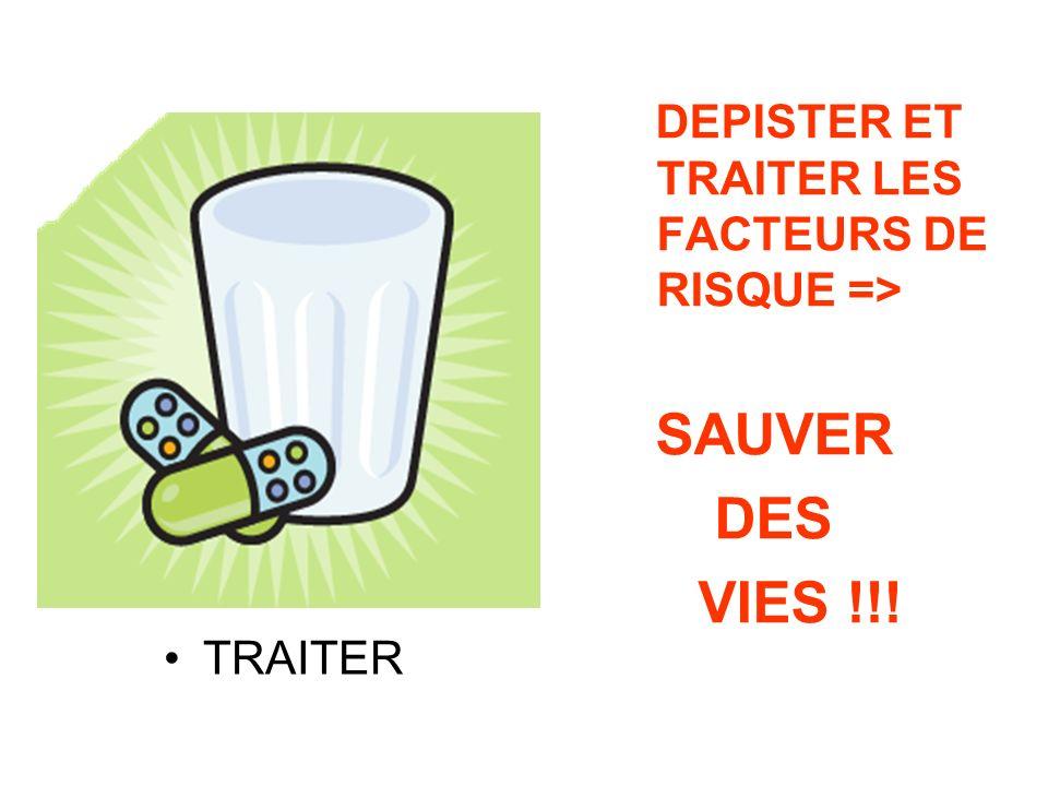 DES VIES !!! DEPISTER ET TRAITER LES FACTEURS DE RISQUE => SAUVER