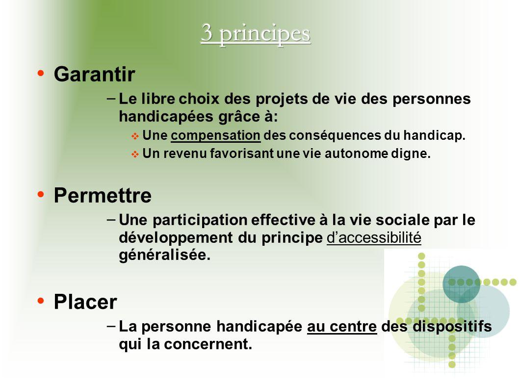 3 principes Garantir Permettre Placer