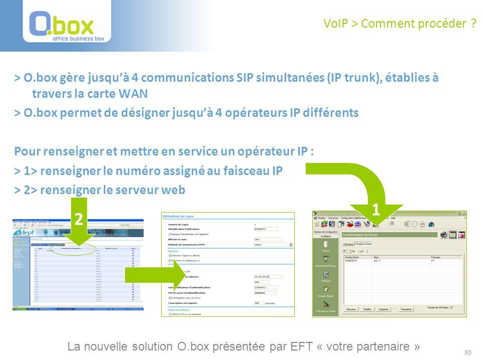 VoIP > Comment procéder