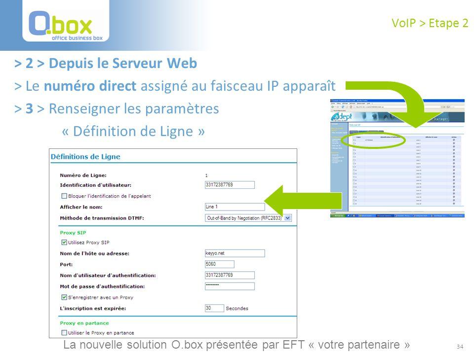 > 2 > Depuis le Serveur Web