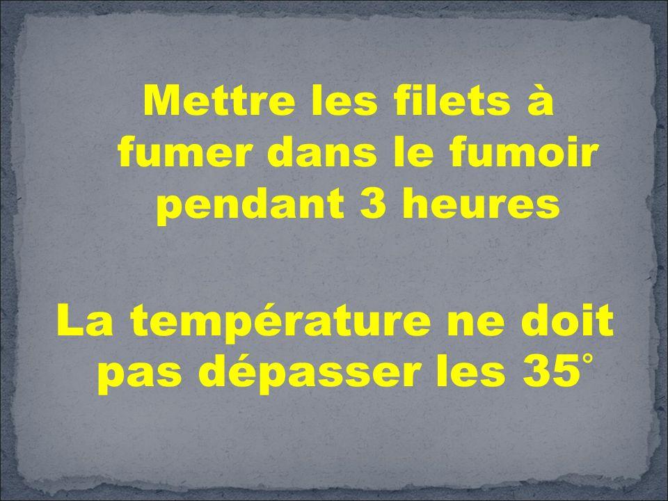 La température ne doit pas dépasser les 35°