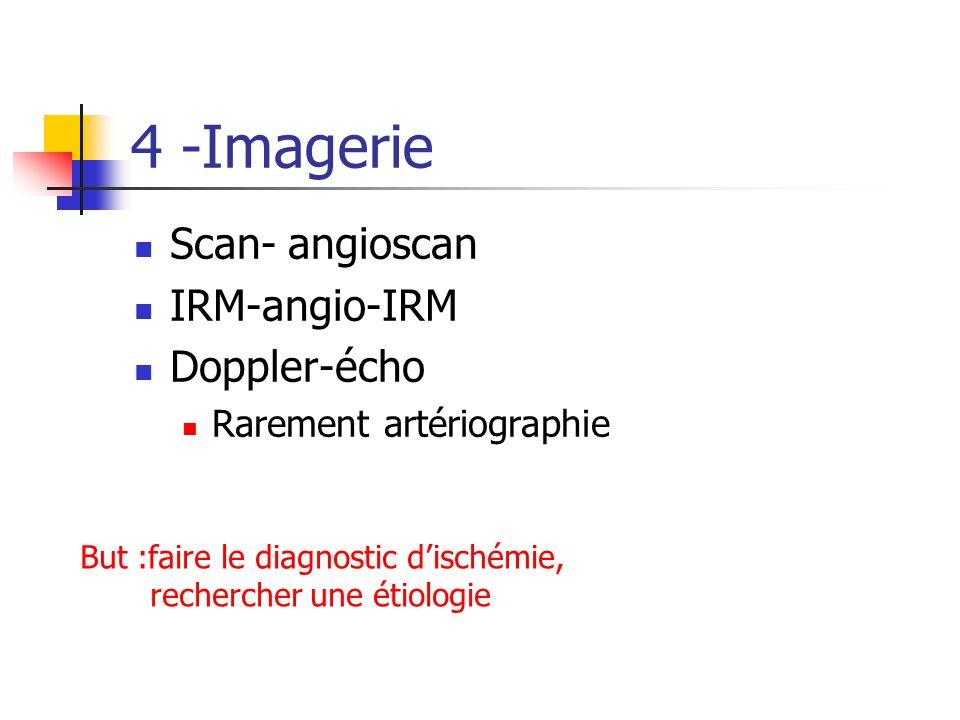 4 -Imagerie Scan- angioscan IRM-angio-IRM Doppler-écho