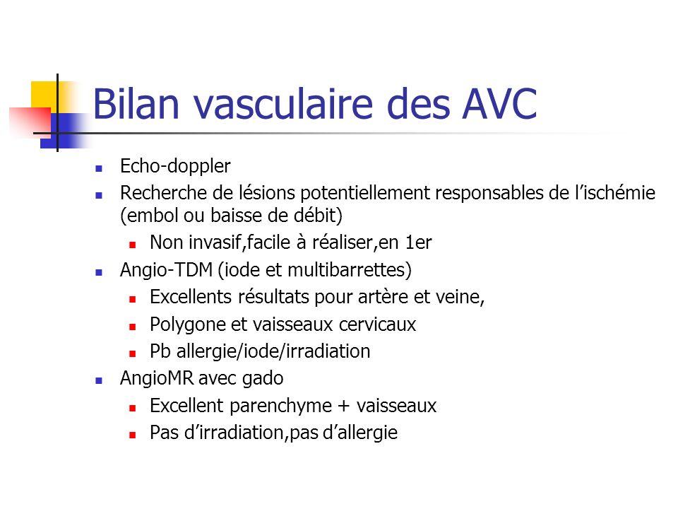 Bilan vasculaire des AVC
