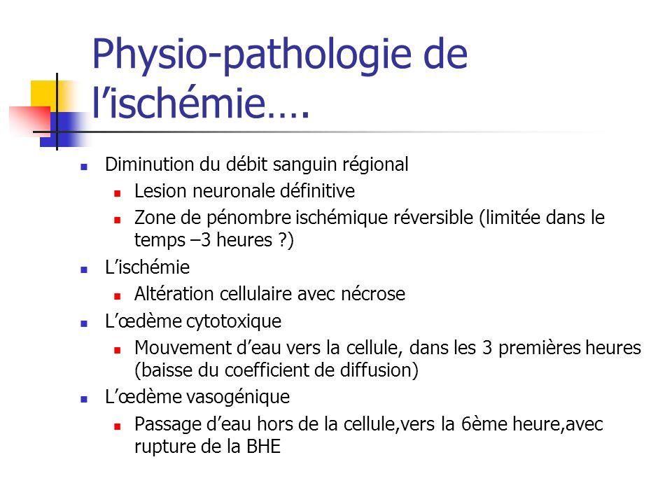 Physio-pathologie de l'ischémie….