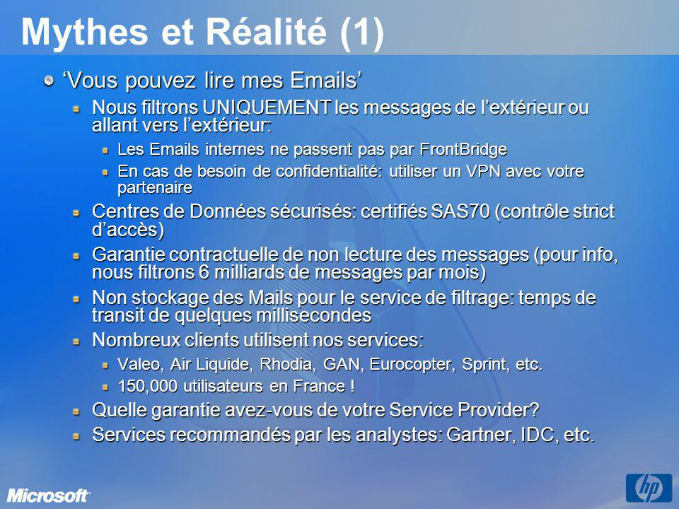 Mythes et Réalité (1) 'Vous pouvez lire mes Emails'