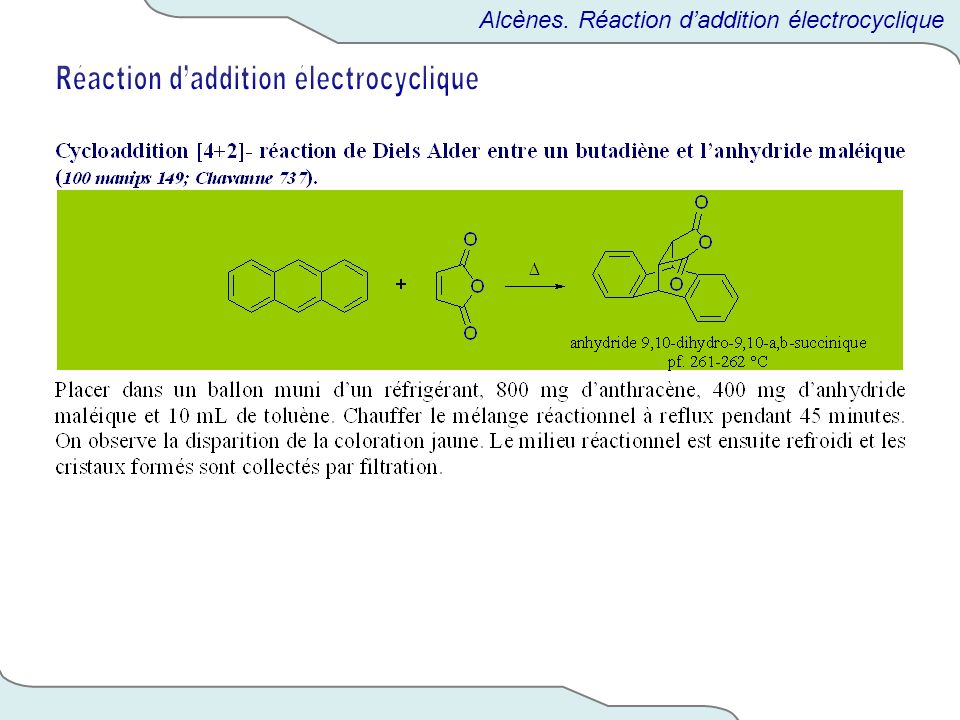 Réaction d'addition électrocyclique
