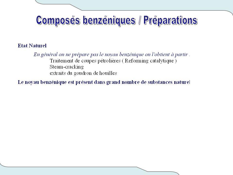 Composés benzéniques / Préparations
