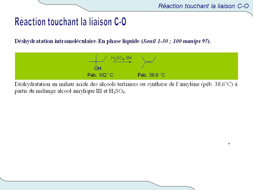 Réaction touchant la liaison C-O