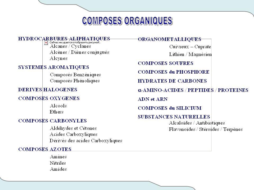 COMPOSES ORGANIQUES
