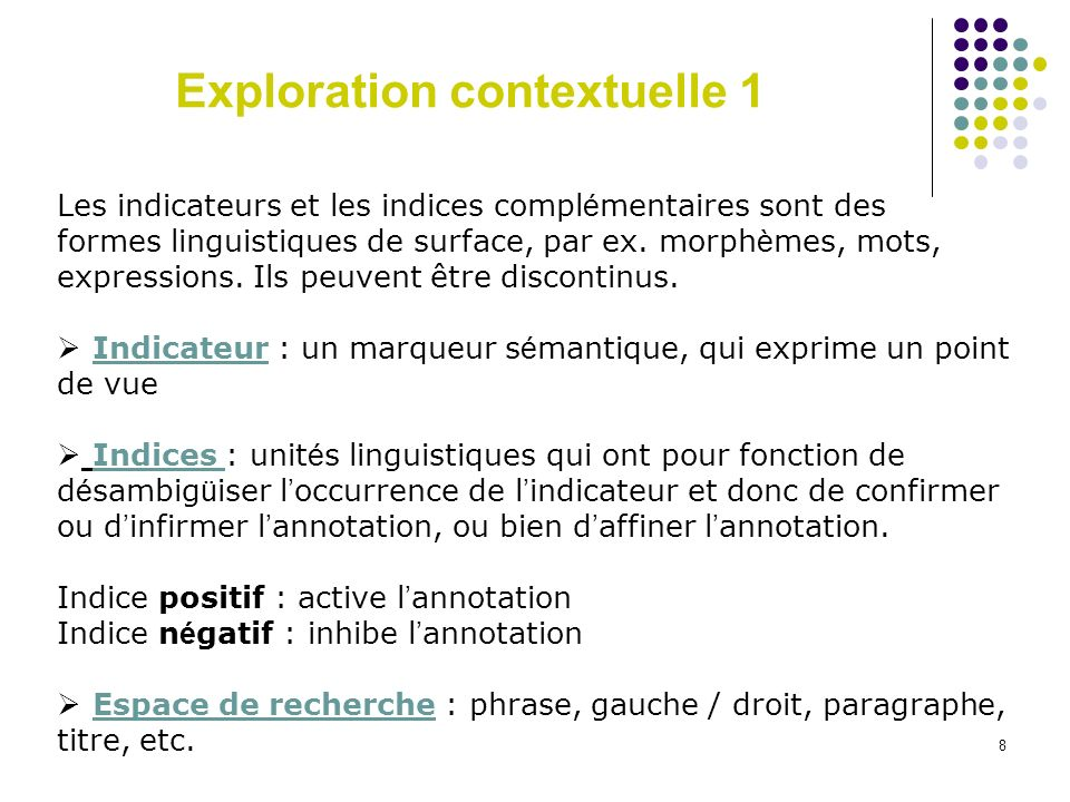 Exploration contextuelle 1