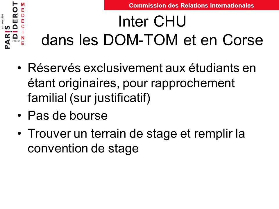 Inter CHU dans les DOM-TOM et en Corse