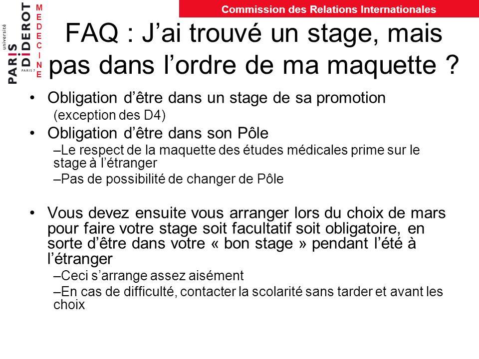 FAQ : J'ai trouvé un stage, mais pas dans l'ordre de ma maquette