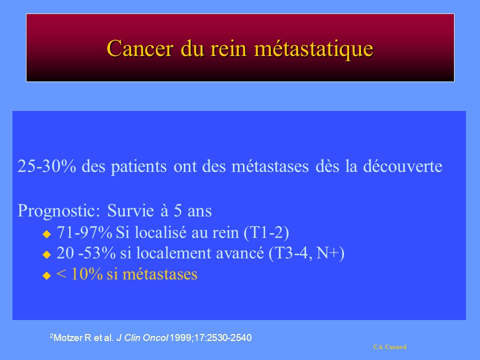 Cancer du rein métastatique