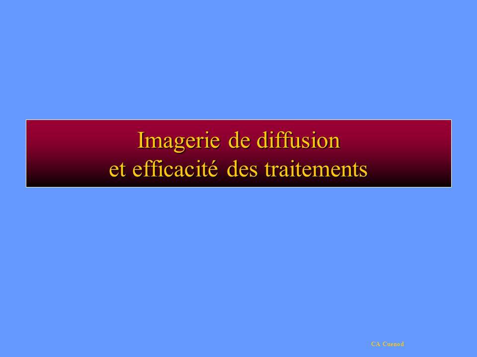 Imagerie de diffusion et efficacité des traitements