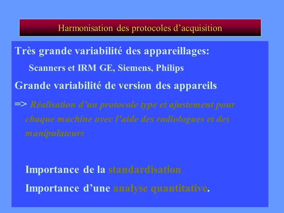 Harmonisation des protocoles d'acquisition
