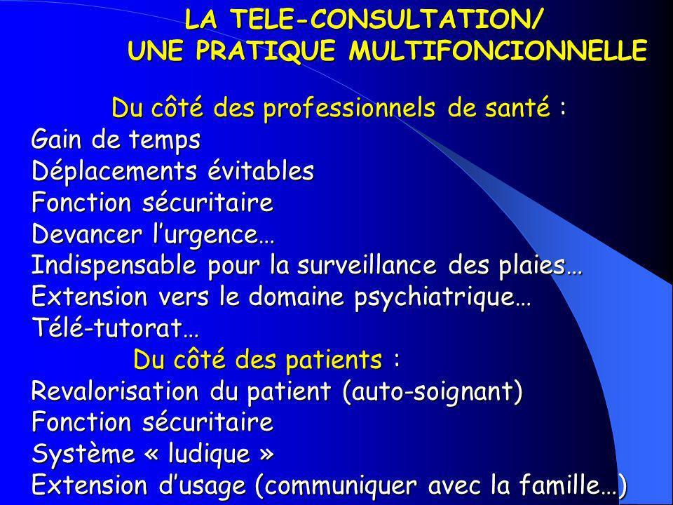 LA TELE-CONSULTATION/ UNE PRATIQUE MULTIFONCIONNELLE