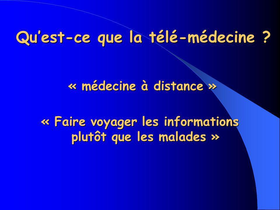 Qu'est-ce que la télé-médecine