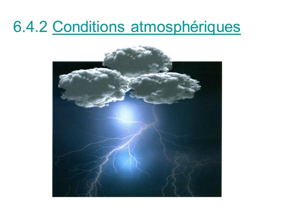 6.4.2 Conditions atmosphériques