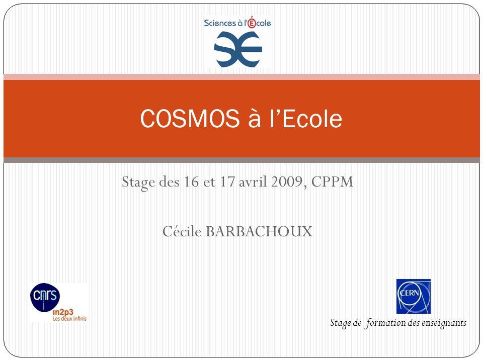 Stage des 16 et 17 avril 2009, CPPM Cécile BARBACHOUX