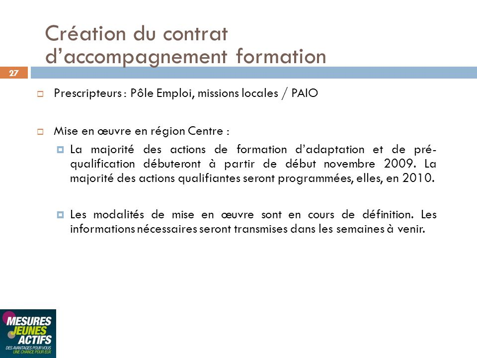 d'accompagnement formation