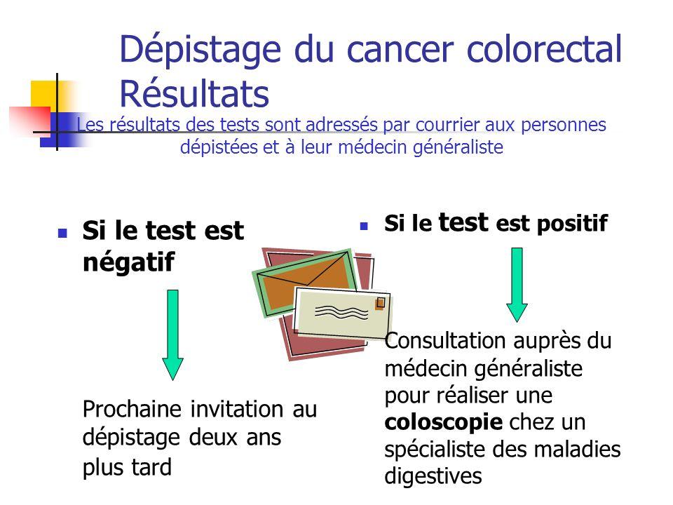 Dépistage du cancer colorectal Résultats