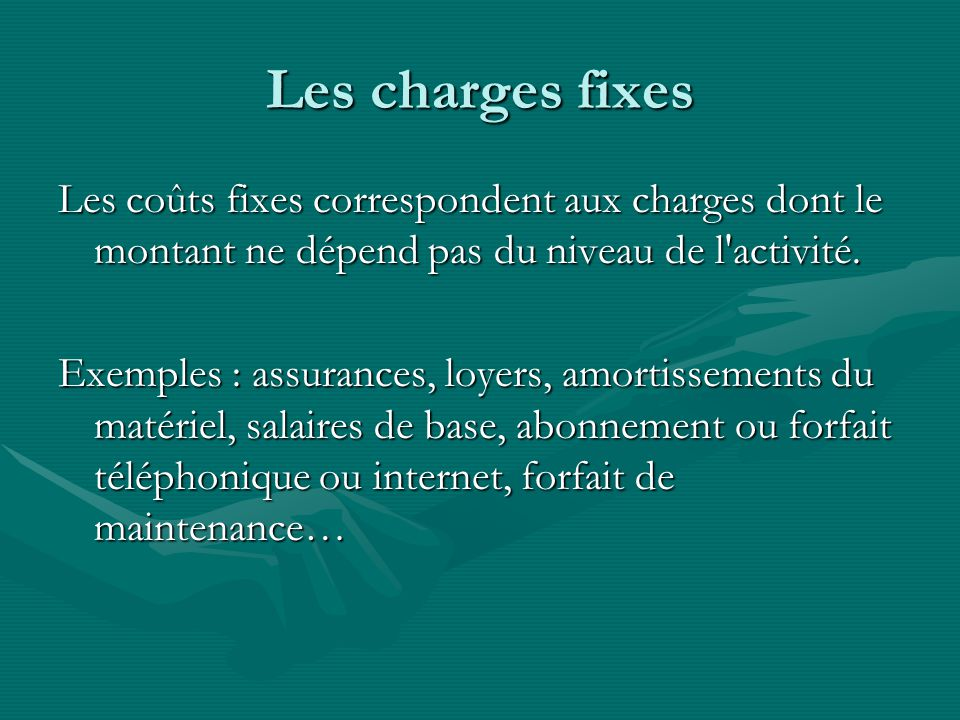 Les charges fixes