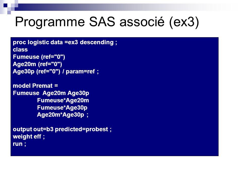 Programme SAS associé (ex3)