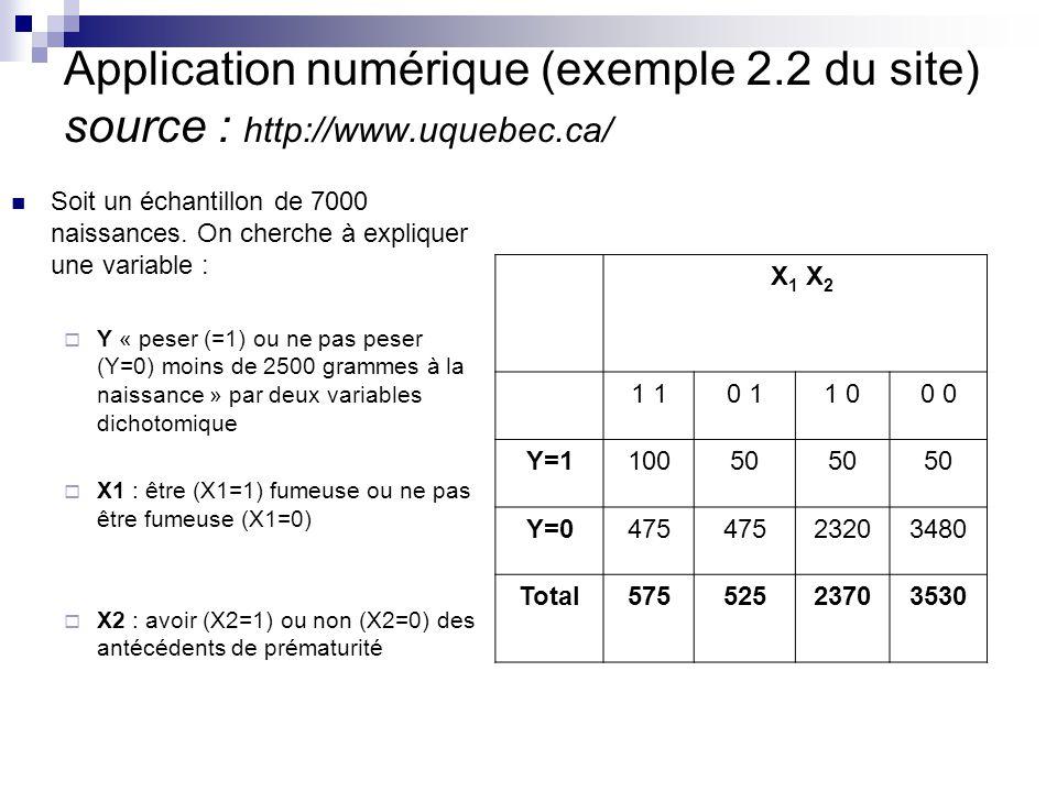 Application numérique (exemple 2. 2 du site) source : http://www