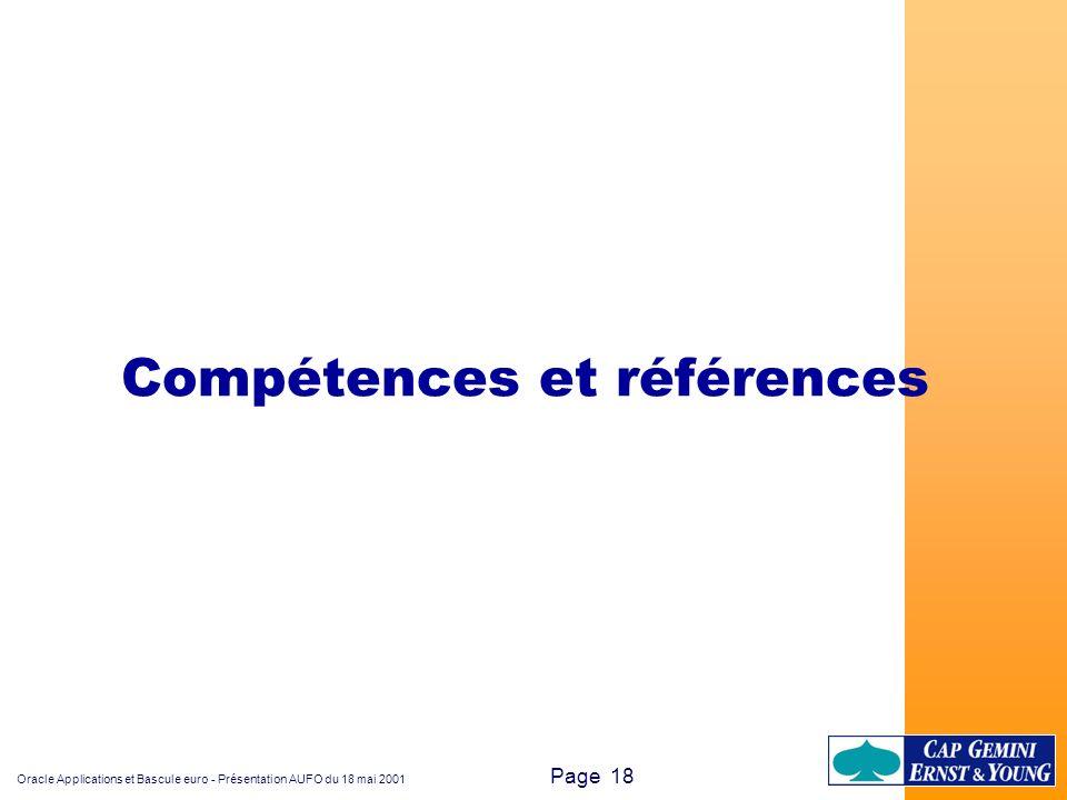 Compétences et références