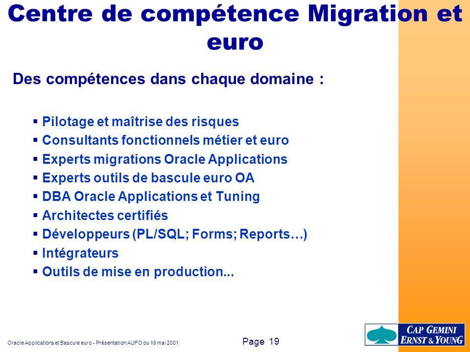 Centre de compétence Migration et euro