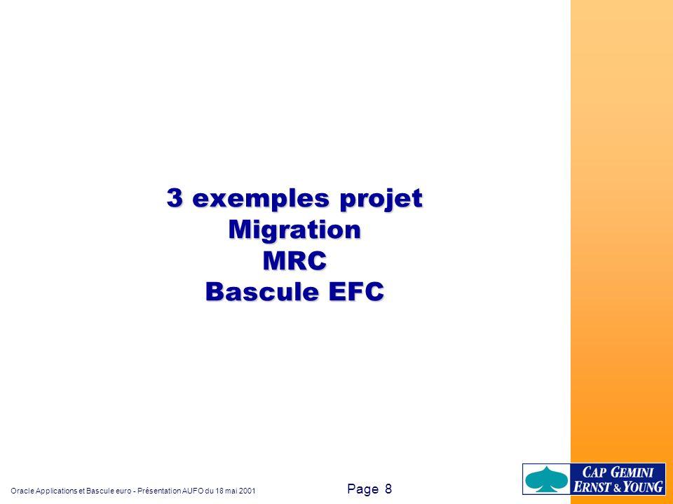 3 exemples projet Migration MRC Bascule EFC