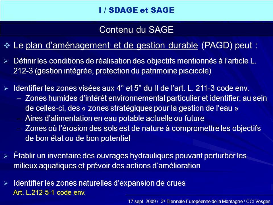 Le plan d'aménagement et de gestion durable (PAGD) peut :