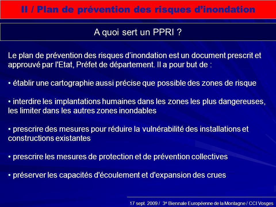 II / Plan de prévention des risques d'inondation
