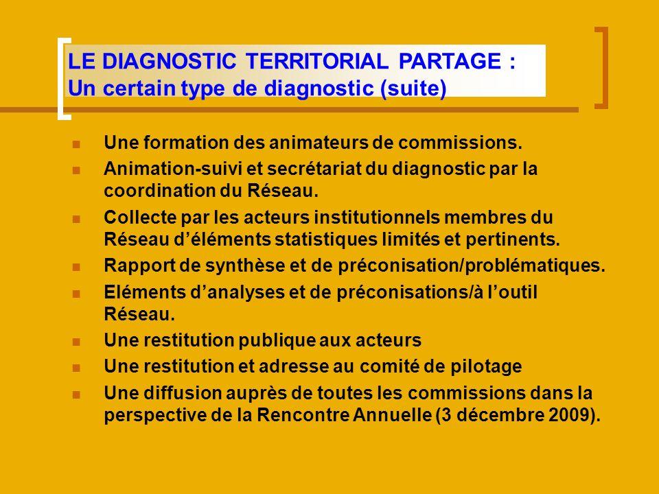 LE DIAGNOSTIC TERRITORIAL PARTAGE : Un certain type de diagnostic (suite)