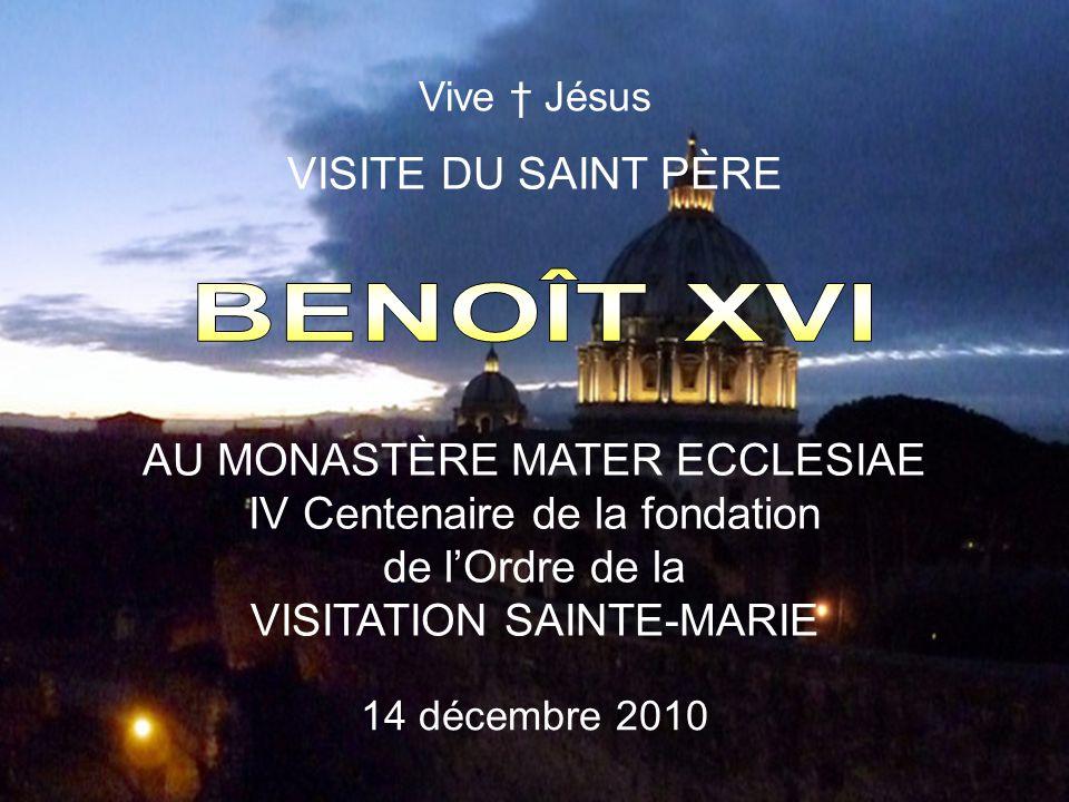 BENOÎT XVI VISITE DU SAINT PÈRE AU MONASTÈRE MATER ECCLESIAE