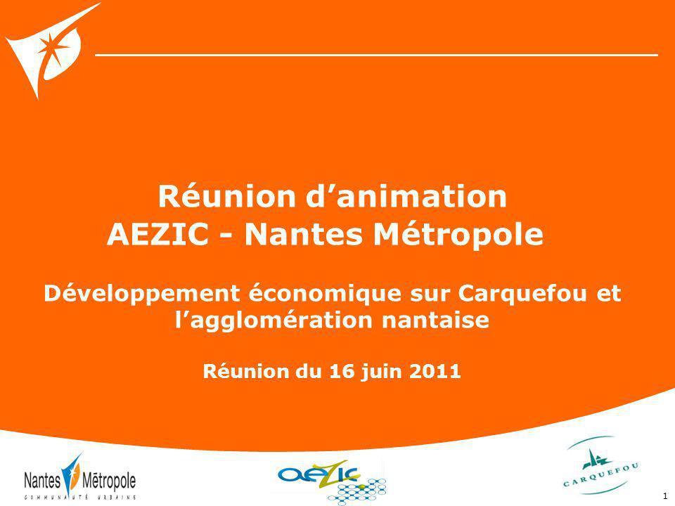 Réunion d'animation AEZIC - Nantes Métropole
