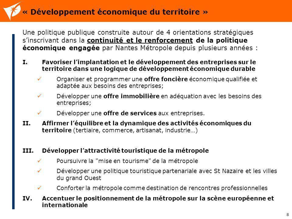 « Développement économique du territoire »
