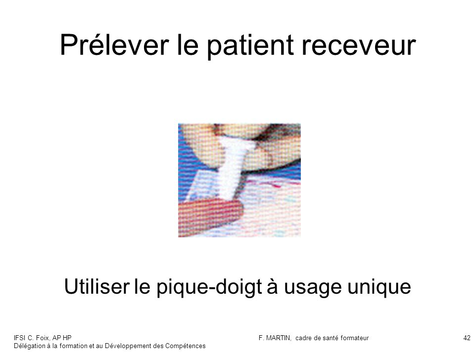 Prélever le patient receveur