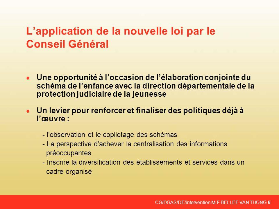 L'application de la nouvelle loi par le Conseil Général