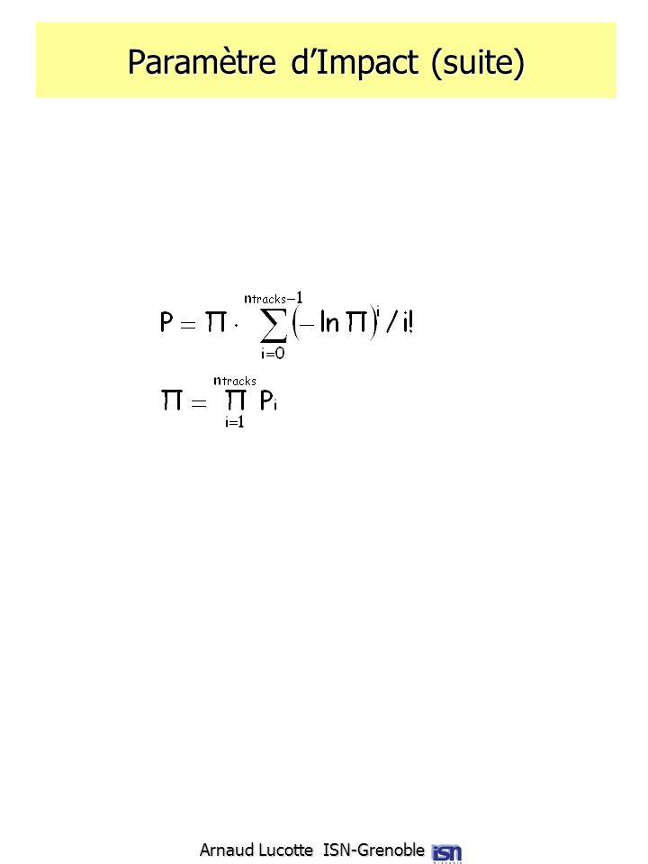 Paramètre d'Impact (suite)