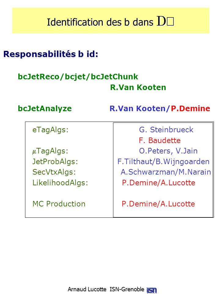 Identification des b dans DÆ