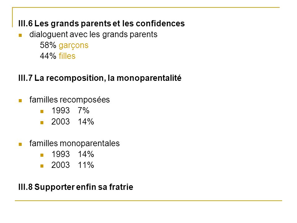 III.6 Les grands parents et les confidences