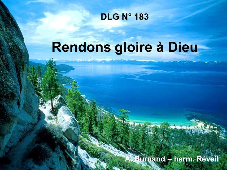 DLG N° 183 Rendons gloire à Dieu