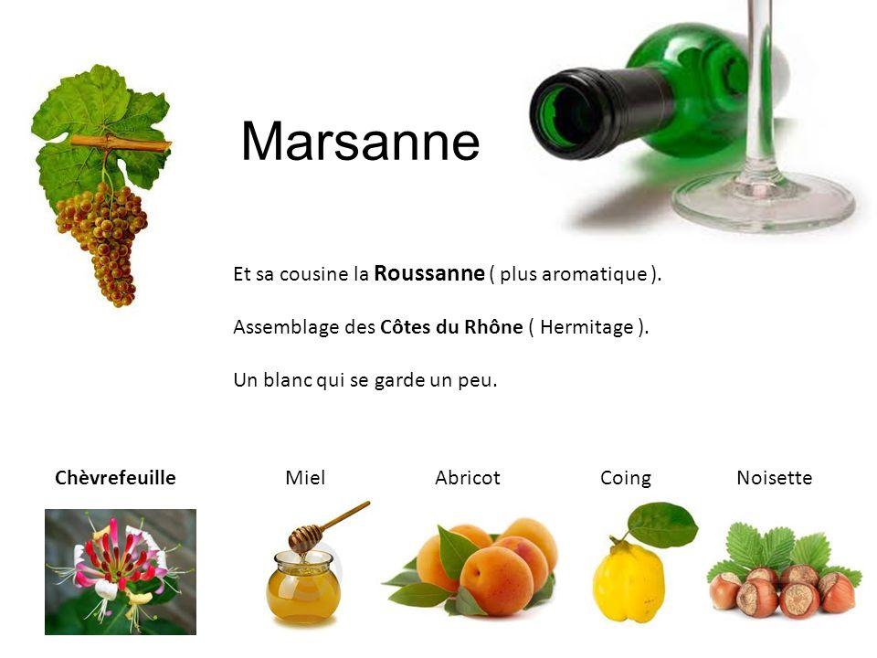 Marsanne Et sa cousine la Roussanne ( plus aromatique ).
