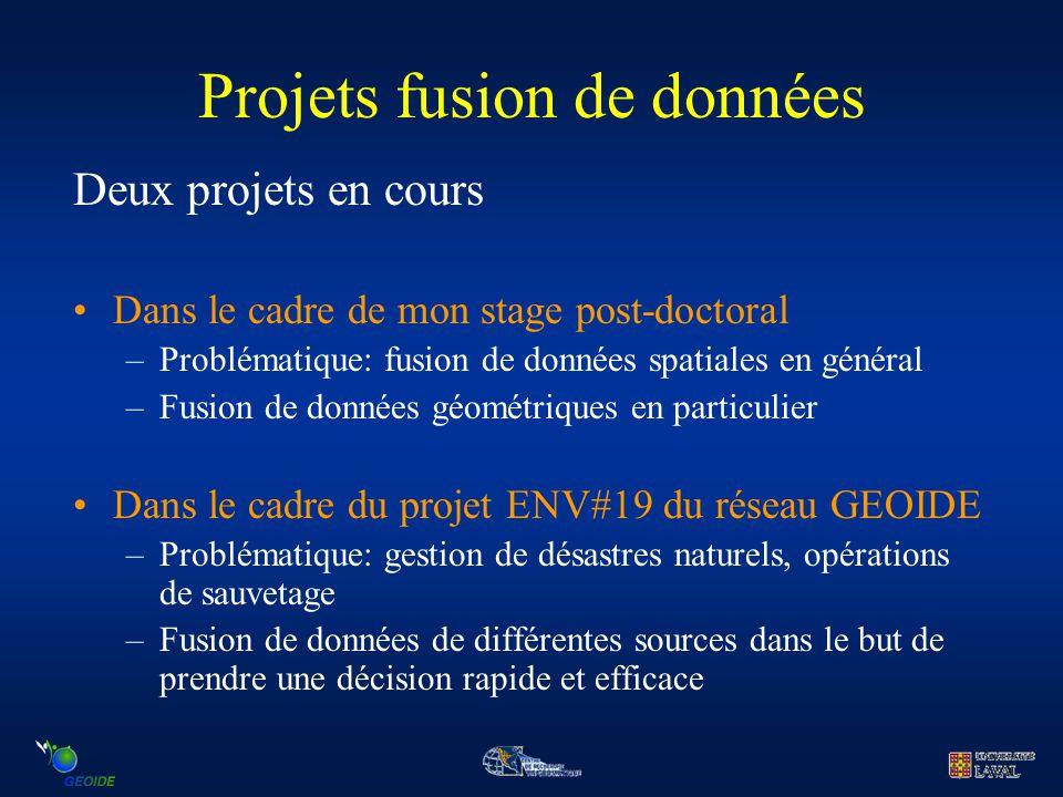 Projets fusion de données