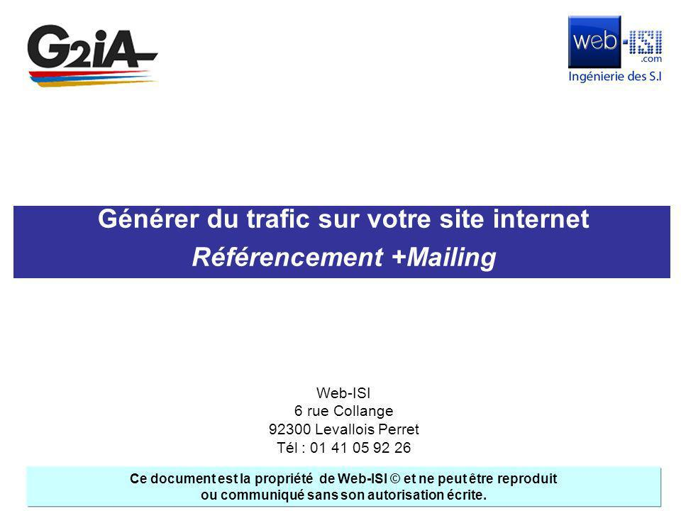 Générer du trafic sur votre site internet Référencement +Mailing