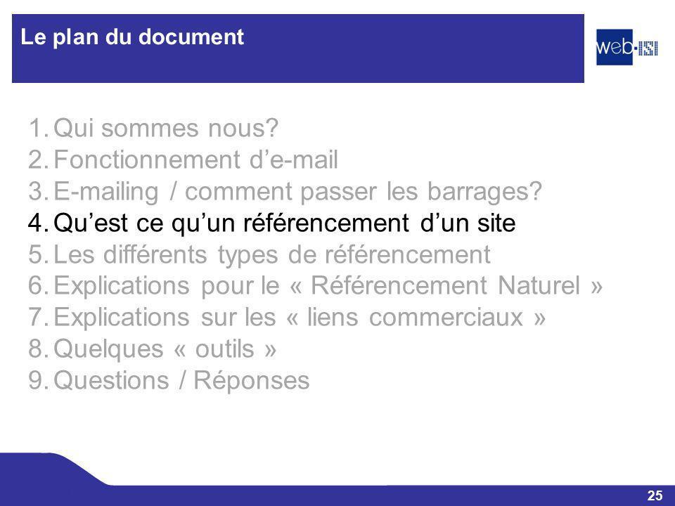Fonctionnement d'e-mail E-mailing / comment passer les barrages